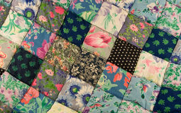 Patchwork quilt Stock Images