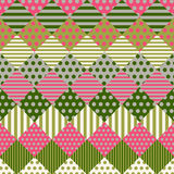 Patchwork Quilt. Background composed of colored patches Stock Image