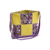 Patchwork quilt bag Stock Image