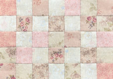 Patchwork Quilt , Basic pattern square. Patchwork Quilt , Basic brown pattern square Royalty Free Stock Photography