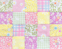 Patchwork Quilt , Basic pattern square. Patchwork Quilt , Basic multi pattern square Royalty Free Stock Photography