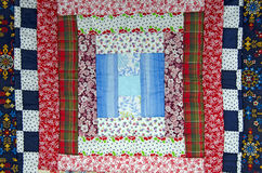 Patchwork quilt. Close up of a patchwork quilt square Stock Image