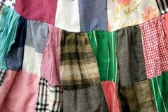 Patchwork quilt dress background Stock Photo