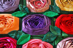 Patchwork quilt with flowers Stock Photography