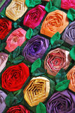 Patchwork quilt with flowers Stock Images