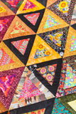 Patchwork quilt. Part of patchwork quilt as background. Handmade. Colorful blanket. Stock Photography