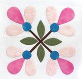 Patchwork Quilt pattern. Patchwork Quilt flower retro pattern Stock Image