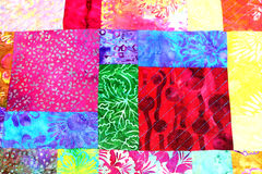 Patchwork quilt A Royalty Free Stock Image