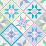 Patchwork Quilt Seamless Pattern. Or wallpaper. Pattern swatch created for you in .eps file Royalty Free Stock Photography