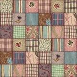 Patchwork quilt seamless texture Stock Photo