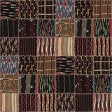 Patchwork quilt seamless texture Royalty Free Stock Photos
