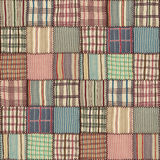 Patchwork quilt seamless texture Royalty Free Stock Photo