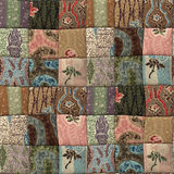 Patchwork quilt seamless texture. 3D country patchwork quilt seamless texture Royalty Free Stock Image