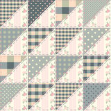 The  patchwork quilt in shabby chic Stock Image