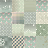 The  patchwork quilt in shabby chic style Royalty Free Stock Images
