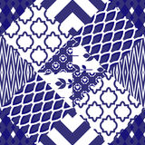 Patchwork quilt vector pattern tiles Royalty Free Stock Photo
