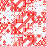 Patchwork quilt vector pattern tiles Royalty Free Stock Photos