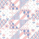 Patchwork quilt vector pattern tiles Stock Images