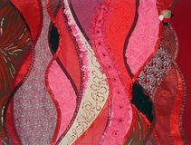 Patchwork red fantasy Stock Photos