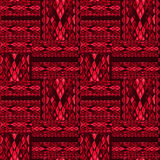 Patchwork red seamless snake skin pattern texture Stock Photos