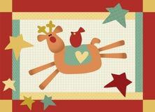 Patchwork Reindeer Stock Photos