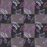 Patchwork retro autumn floral pattern texture background Stock Images