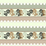 Patchwork retro beige colors poppy floral textile pattern Stock Photo