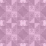 Patchwork retro checkered floral fabric texture pattern backgrou Stock Photos