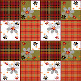 Patchwork retro checkered floral texture pattern retro backgroun Royalty Free Stock Photography