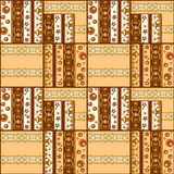 Patchwork retro checkered lace fabric texture pattern background Royalty Free Stock Photo