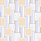 Patchwork retro checkered lace fabric texture pattern background Stock Photography