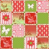 Patchwork retro floral texture pattern background Stock Photos