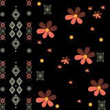Patchwork retro geometrical floral pattern texture background Stock Photo