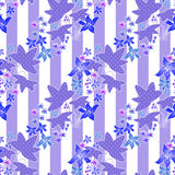 Patchwork retro geometrical floral pattern texture background Royalty Free Stock Photo