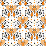 Patchwork retro geometrical floral pattern texture background Stock Photography