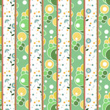 Patchwork retro geometrical floral pattern texture background Stock Images