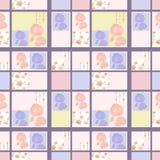 Patchwork retro poppy floral textile texture pattern background Stock Image