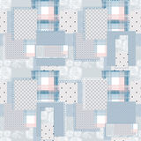 Patchwork retro seamless dotted pattern Royalty Free Stock Photos