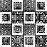 Patchwork retro seamless lace pattern texture background Royalty Free Stock Image