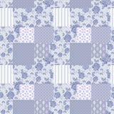 Patchwork retro striped floral texture pattern retro pastel back Stock Image