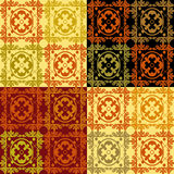 Patchwork retro texture pattern background Stock Image