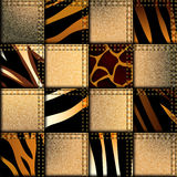 Patchwork in safari style Royalty Free Stock Photos