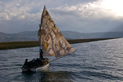 Patchwork sail stock images