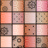 Patchwork of satin fabric Stock Image