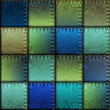 Patchwork of satin fabric Royalty Free Stock Photo
