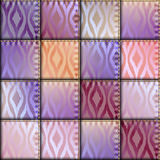 Patchwork of satin fabric. Stock Image