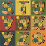 Patchwork scrapbook alphabet Royalty Free Stock Image