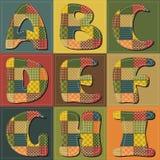 Patchwork scrapbook alphabet Stock Photos