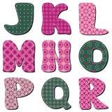 Patchwork scrapbook alphabet Royalty Free Stock Images