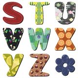 Patchwork scrapbook alphabet Stock Image